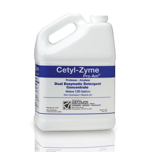 Cetyl-Zyme Pro-Am Dual Enzymatic Detergent Concentrate